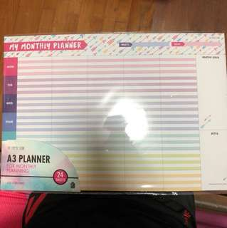 A3 Monthly Planner
