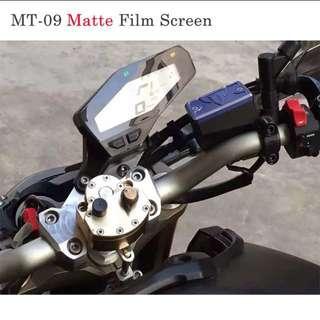 Yamaha MT09 Matte Speedometer Screen Protector