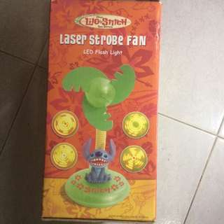Free 免費 Lilo & Stitch laser strobe fan 史迪仔風扇