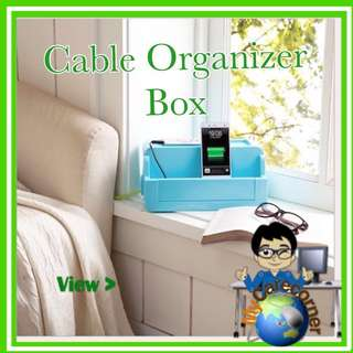 Desktop Plastic Storage Box Cable Organizer Box Wire manager power cord management High Capacity Phone Container Bedroom bedrooms organiser