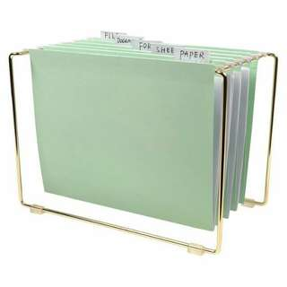 Hanging mint files and gold frame