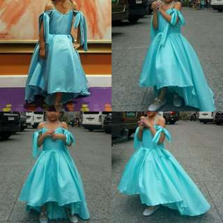 Tiffany blue flower girl gown