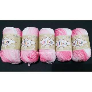 Alize Bella Batik Yarn - Color 2126 (Pack of 5 balls for Crochet/Knitting) - Free Shipping within Singapore
