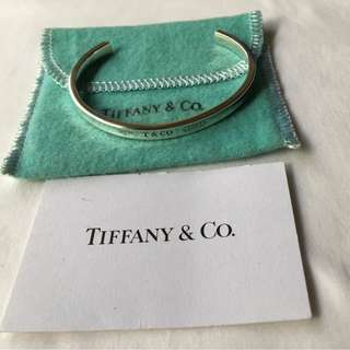 Genuine Vintage Tiffany & Co 1837 Narrow Cuff Bracelet