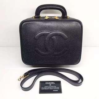 Chanel Vintage 荔枝皮化妝袋