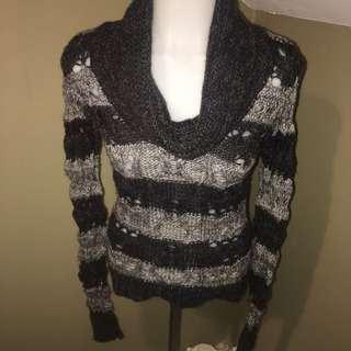 Women's Striped Cowl Neck Sweater/SZ XS