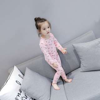 [Ready Stock] Kids Sleepwear for 2 - 8 yrs old - Pink Swan