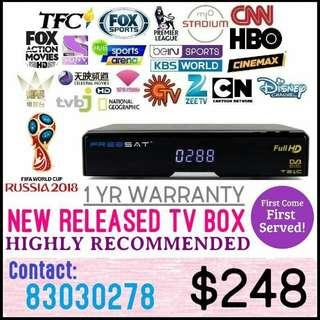 Tv box 2018 / dreambox / scv box /blackbox