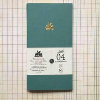 KEEP A NOTEBOOK 寫筆記Handy Size 機能筆記  Ruled+Section 橫方筆記