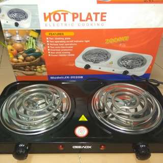 Hotplate double electric stove