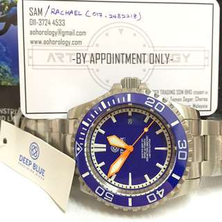 Deepblue Master 2000 Swiss Automatic (Blue-Orange)Limited Edition 1000PCS worldwide