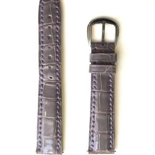 Original Franck Muller 17mm crocodile leather strap (purple) & original Franck Muller buckle.  原裝 Franck Muller 17mm 鱷魚錶帶 (紫色) & 皮錶帶扣