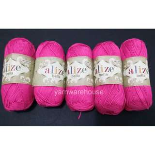 Alize Bella 100% Cotton Yarn - Color 489 (Pack of 5 balls for Crochet/Knitting) - Free Shipping within Singapore