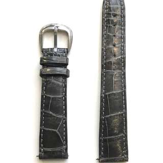 Original Franck Muller 17mm crocodile leather strap (Gray) & original Franck Muller buckle.  原裝 Franck Muller 17mm 鱷魚錶帶 (灰色) & 皮錶帶扣