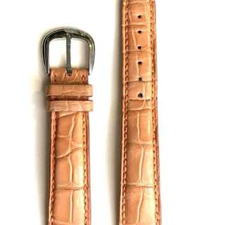 Original Franck Muller 17mm crocodile leather strap (Orange) & original Franck Muller buckle.   原裝 Franck Muller 17mm 鱷魚錶帶 (橙色) & 皮錶帶扣
