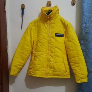 DKNY active Yellow colored Coat/Jacket