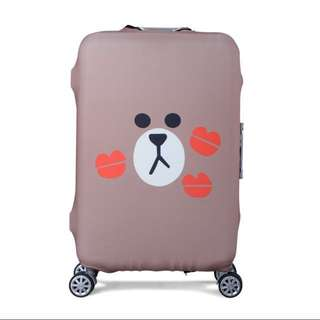 Cover Luggage (Sarung Koper) Size XL - Brown