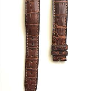 Original Franck Muller 17mm crocodile leather strap (Brown).  原裝 Franck Muller 17mm 鱷魚錶帶 (啡色)