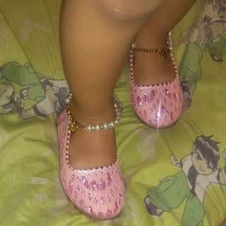 Pink formal doll shoes for kids rush