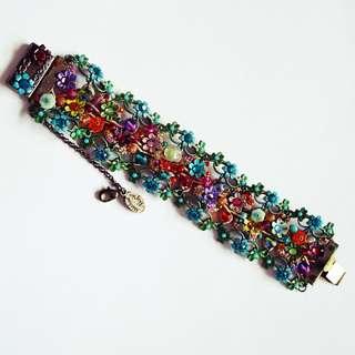 MICHAL NEGRIN Floral Crystal Bracelet – Multi Color Collection