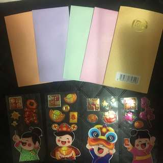 DIY hongbao with stickers from Lays