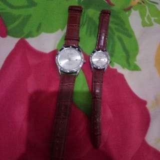 Jam tangan rolex cauple gak ada rusak tinggal kasih batre