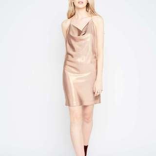 Miss Selfridges Gold Cowl Slip Dress
