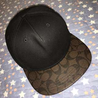 COACH Flat Brim Hat in Signature
