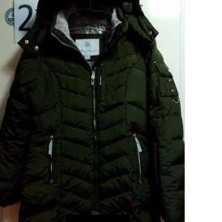 冬季長版羽絨大衣