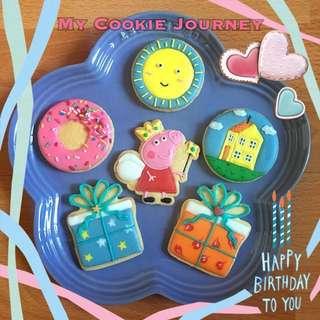 生日會小禮物/小吃 Princess Peppa Pig 糖霜曲奇