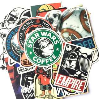 Starwars stickers 25pc