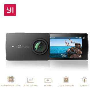 YI 4K Action Camera International Version Edition Camera Only [Overseas]
