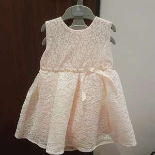 Princess pink lace dress