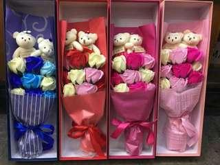 Flower Soap with Teddy Bears