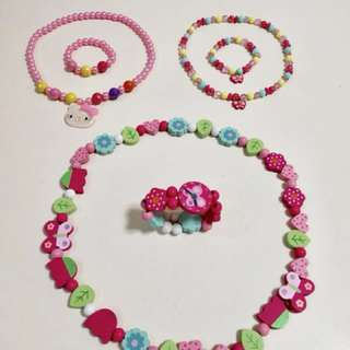 Girls necklaces and brackets
