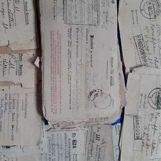 100 Piece LOT - British India BURMA Postal Acknowledgement Receipt Mixed - l4