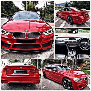 SAMBUNG BAYAR  BMW F30 320i TWIN TURBO TAHUN 2014 BULANAN RM 2250 BAKI 5 TAHUN ROADTAX HIDUP BODYKIT M SPORT TIPTOP CONDITION  DP KLIK wasap.my/60133524312/f30