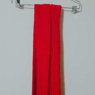 【針織圍巾】紅色大針織圍巾/長款/鬼怪/金高恩/金高銀/同款/#舊愛換新歡/#有超取最好買