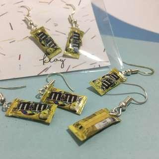 M&M Earrings (Peanuts/Yellow)