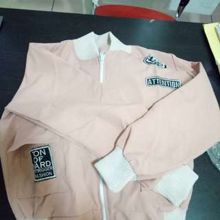 Jaket kanvas Pink Attentions ukuran M