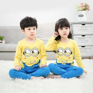 [Ready Stock] Kids Sleepwear for 2 - 12 yrs old - Minion