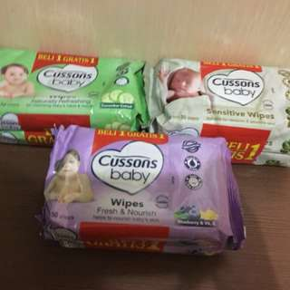Cussons baby wipes 3 warna