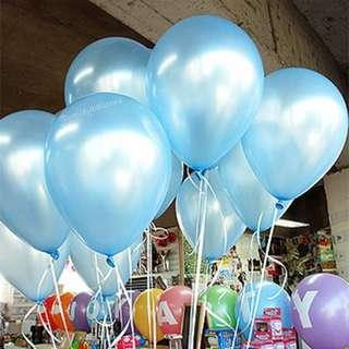 PEARL LATEX HELIUM BALLOONS (LIGHT BLUE)