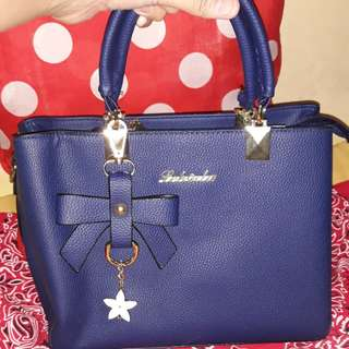 BLUE KOREAN MADE SLING BAG