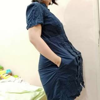 Maternity Mango MNG blue dress