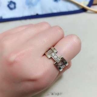 Tiffany 羅馬數字白金鑽石戒指