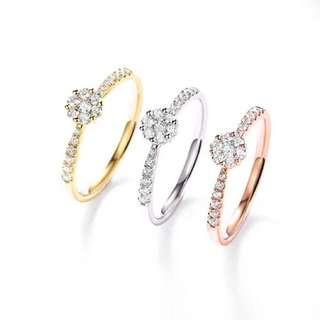 精緻18K金鑽石戒指💍好閃好易襯既百搭款式🎁情人節女朋友禮物推薦