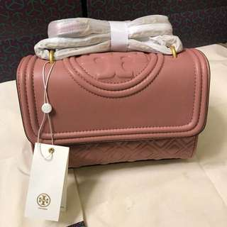 Tory Burch Fleming Convertible Bag- 豆沙紅