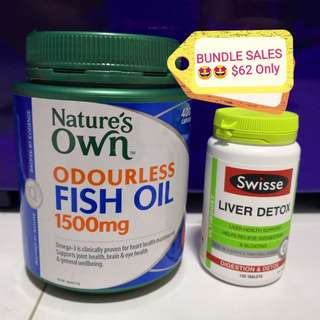 NATURE'S OWN Fish Oil + Liver detox only $62 ONLY