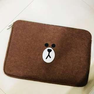 Line bear laptop bag